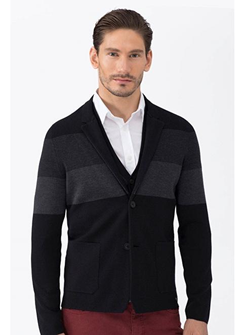 Hemington Slim Fit Yün Blazer Ceket Siyah